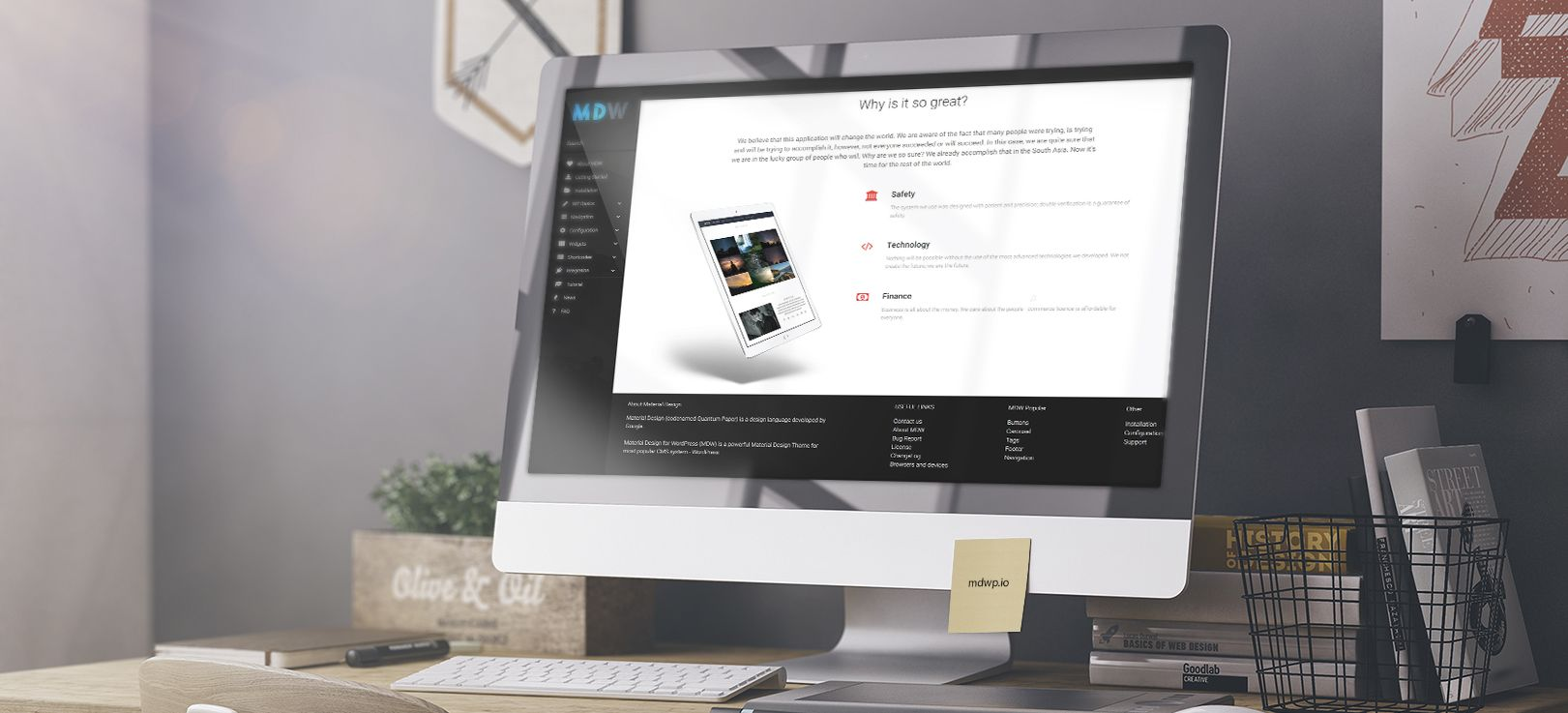 MDW WordPress Tutorial Features